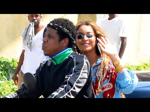 Beyonce and JAYZ Cuddle Up on Motorcycle While Shooting Music Video in Jamaica