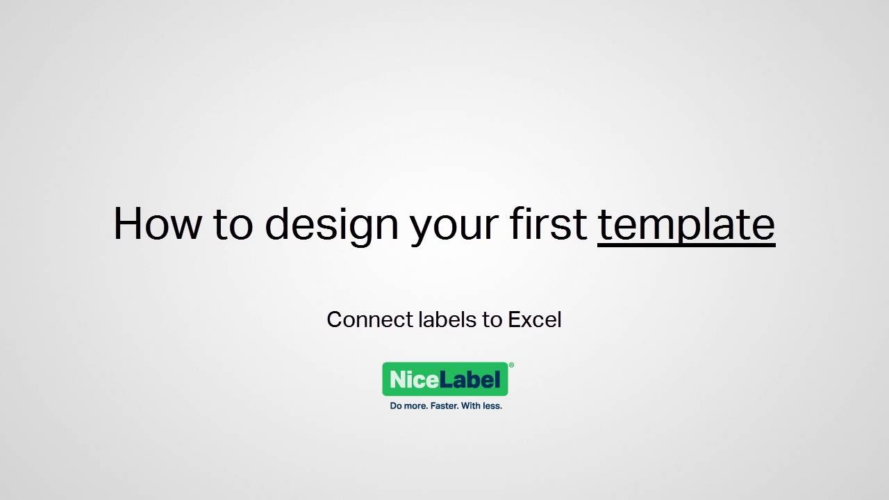 NiceLabel 2017 - Design your first template