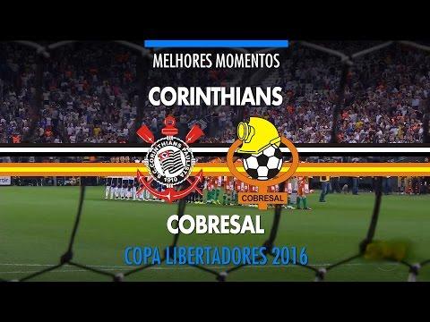 Melhores Momentos - Corinthians 6 x 0 Cobresal-CHI - Libertadores - 20/04/2016