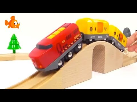 BRIO Toys Kid's Mega Choo-Choo Trains & Toy Cars Videos for kids Toy Trains COMPILATION