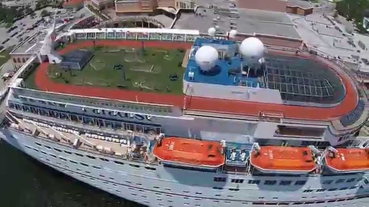 Carnival Paradise Cruise Ship Port Of Tampa Dji Phantom