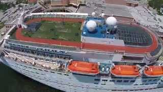 Carnival Paradise Cruise ship, Port of Tampa w/ DJI Phantom 2 Vision PLUS (P2V+)