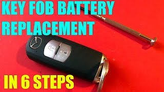 Mazda CX5, CX3, 3, 6, CX7, CX9 key fob battery replacement in 6 steps