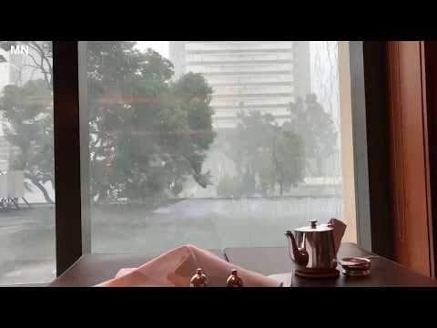 Severe typhoon Mangkhut hits Hong Kong, China - September 15, 2018