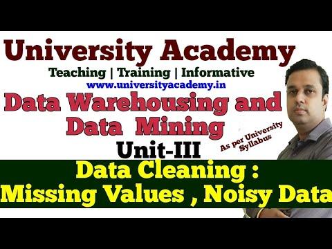 DWM16: Data Cleaning: Missing Values, Noisy Data,Binning, Clustering, Regression, Human Inspection