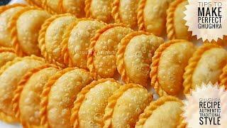 Ghughra Recipe/ Karanji Recipe/ Gujiya Recipe - How to make Gujiya - Diwali Special Snacks Recipe