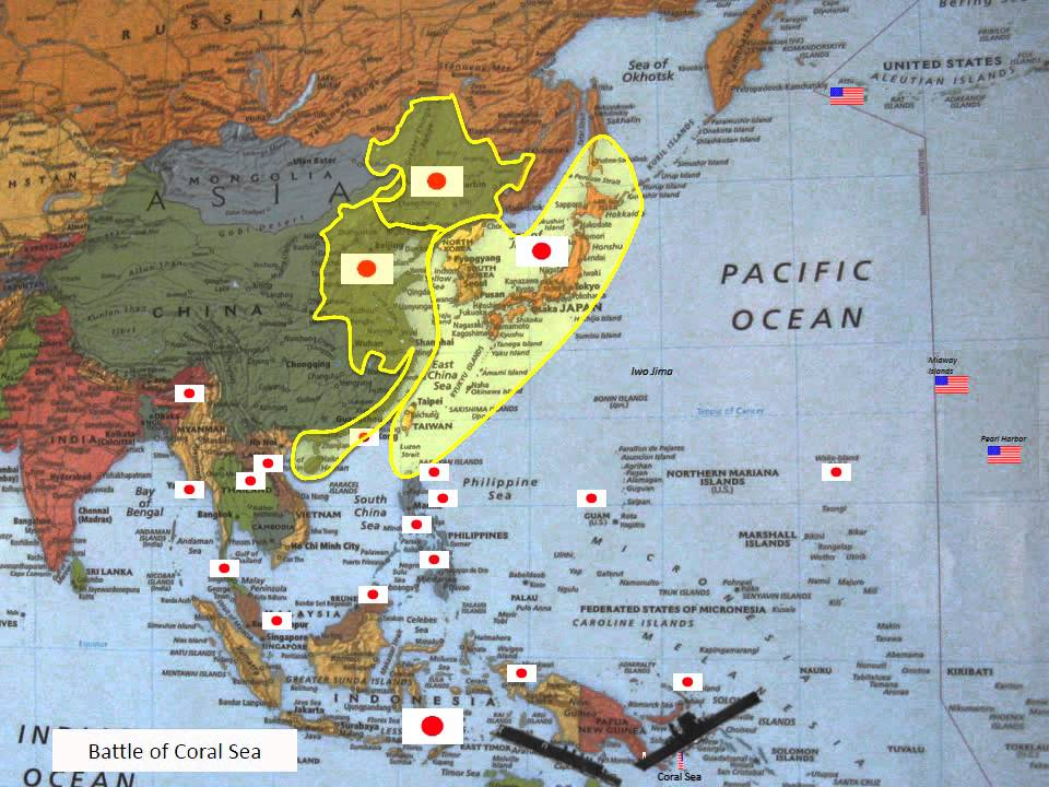 WWII Pacific Timeline YouTube - Micronesia interactive map