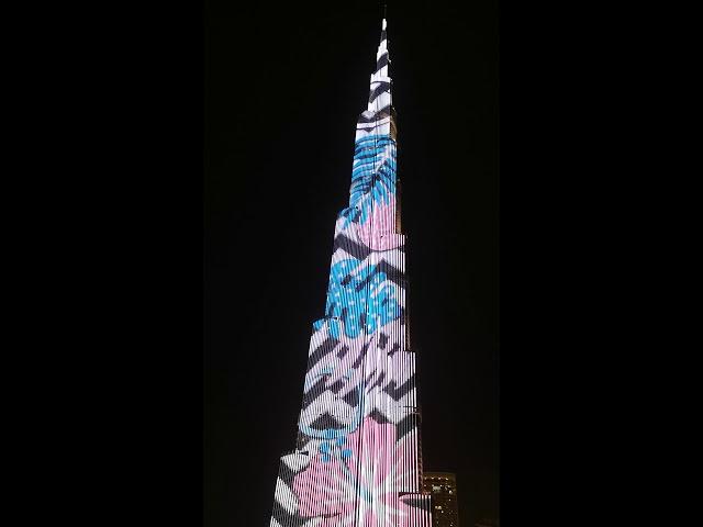 Burj Khalifa light show 2018