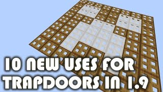 Minecraft - 10 New Uses for Trapdoors in 1.9
