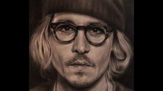 Джонни Депп - ПОРТРЕТ КАРАНДАШОМ (Drawing Johnny Depp - portrait )
