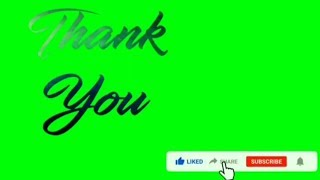Download Thank You Green screen, Penutup Video YouTube