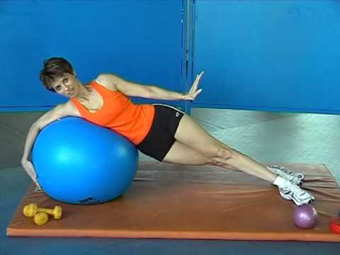 PREPARATION PHYSIQUE GAINAGE FACIAL DORSAL LATERAL AVEC SWISS BALL - YouTube