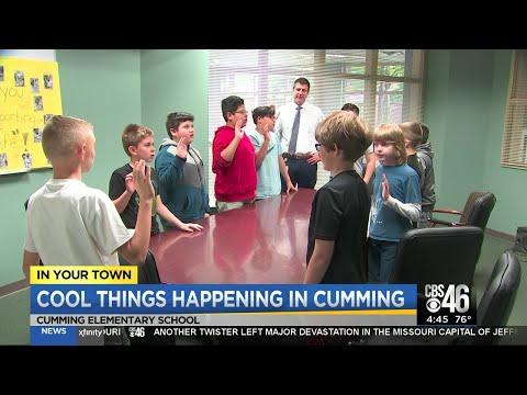 CBS46's Rebekka Schramm gets a peek inside the 'men's club' at Cumming Elementary School