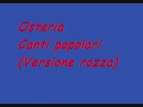 Canti Popolari - Osterie