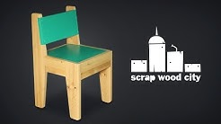 How to make a small wooden chair for kids - DIY