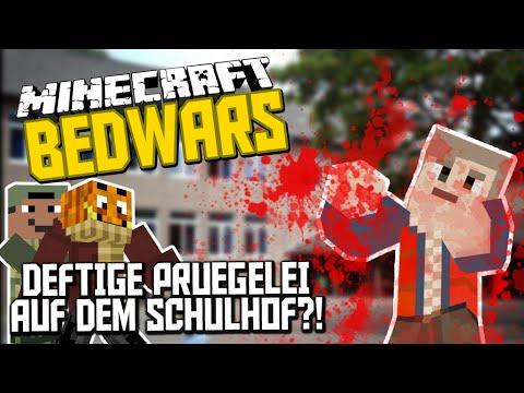"""Deftige PRÜGELEI AUF DEM """"SCHULHOF"""" ! ✪ Minecraft Bedwars mit Bergi & Max !"""