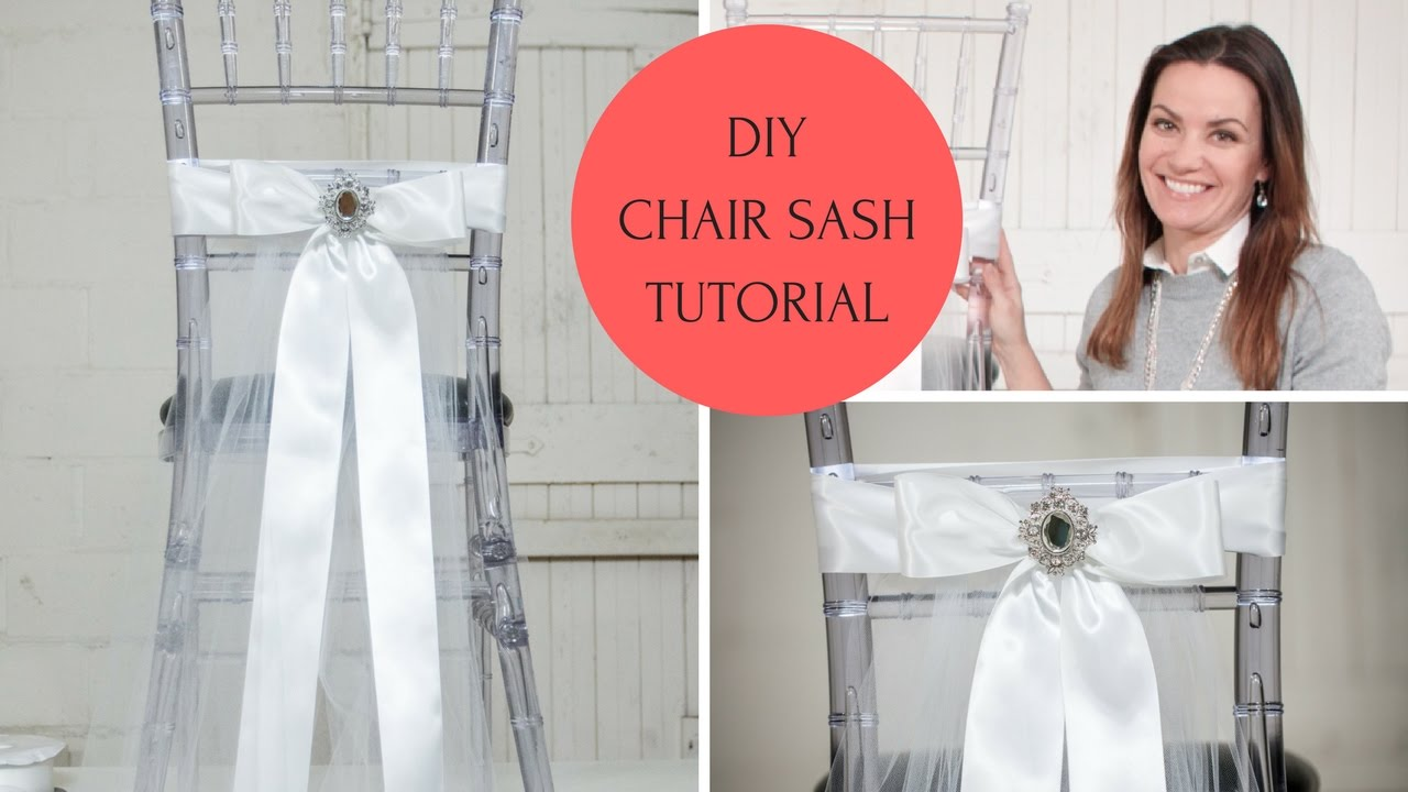 How To Make Chair Sashes Wedding Bows For Chairs Sash Ideas Diy Tutorial Youtube