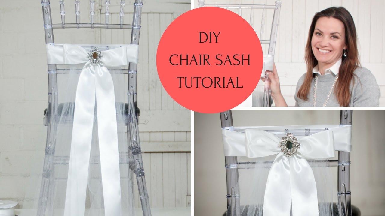Chair sash ideas chair sash diy chair sash tutorial youtube chair sash ideas chair sash diy chair sash tutorial solutioingenieria Gallery