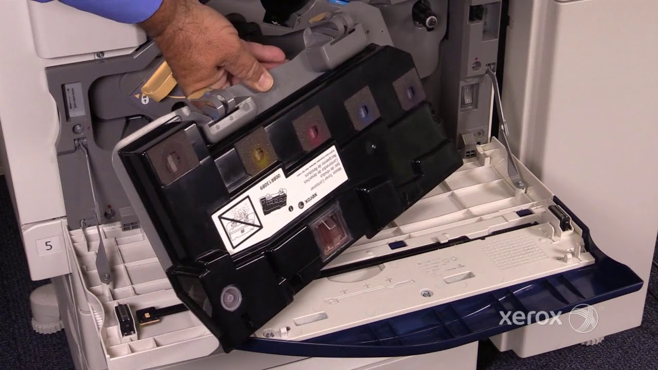 Xerox Workcentre 7120 7220 7225 Waste Toner Container Youtube