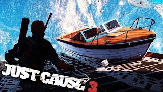 JUST CAUSE 3 BOAT FROM PLANE FAILS! :: Just Cause 3 Epic Stunts