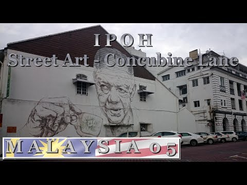 Ipoh : Street Art - Old Town White Coffee - Concubine Lane | Travel in Malaysia 2017