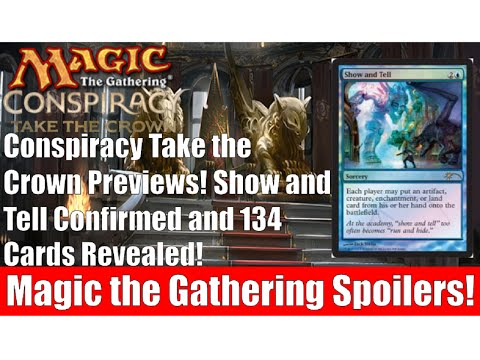 MTG Conspiracy Take the Crown Preview Cards! Show and Tell and 134 Cards Revealed!