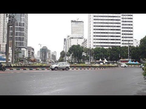 Suasana Lengangnya Jalanan Ibu Kota Jakarta di Hari Pertama Tahun 2019 Mp3