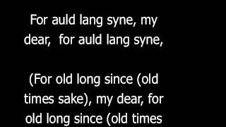 auld lang syne with lyrics and english translation
