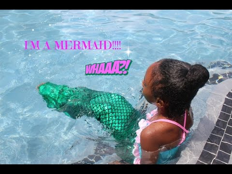 I WENT SWIMMING WITH MY FIN FUN MERMAID TAIL!!!!!