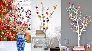 Room decor DIY Idea With Woolen Pom Pom   Best Out Of Waste   Ideas 2019!!!
