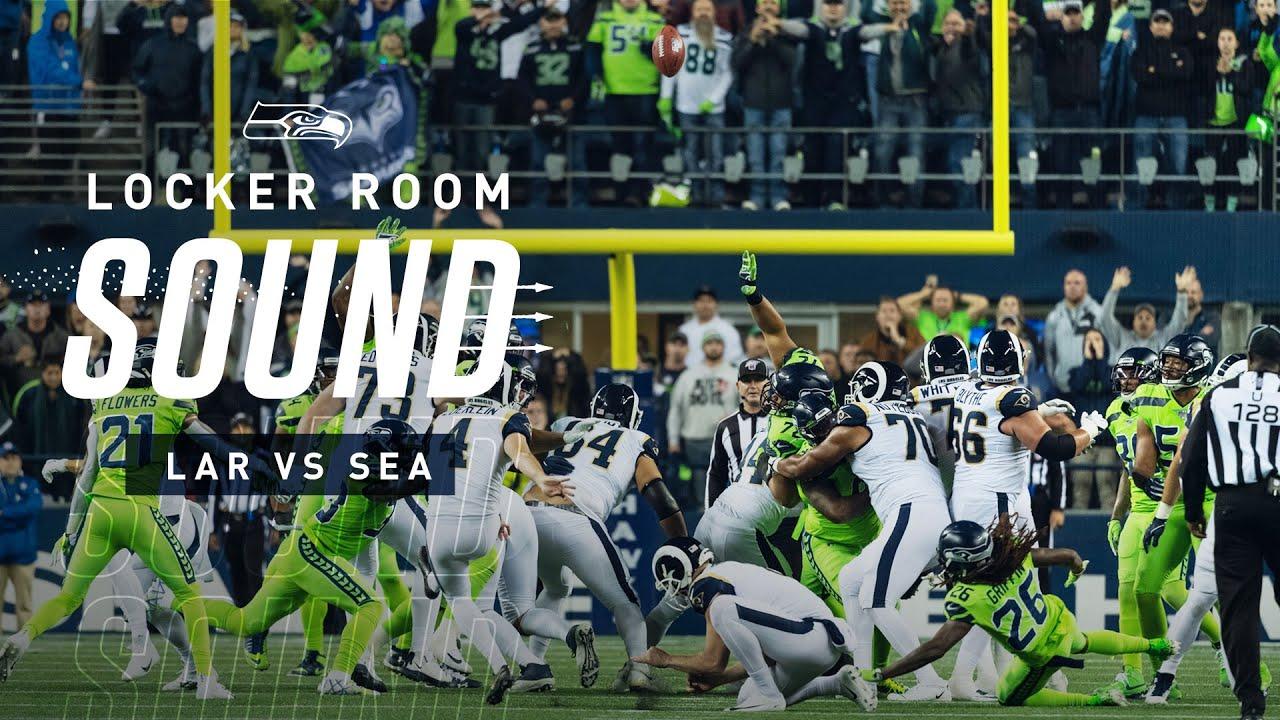 Locker Room Sound Vs Rams Seahawks React To Missed Field Goal 2019 Seattle Seahawks