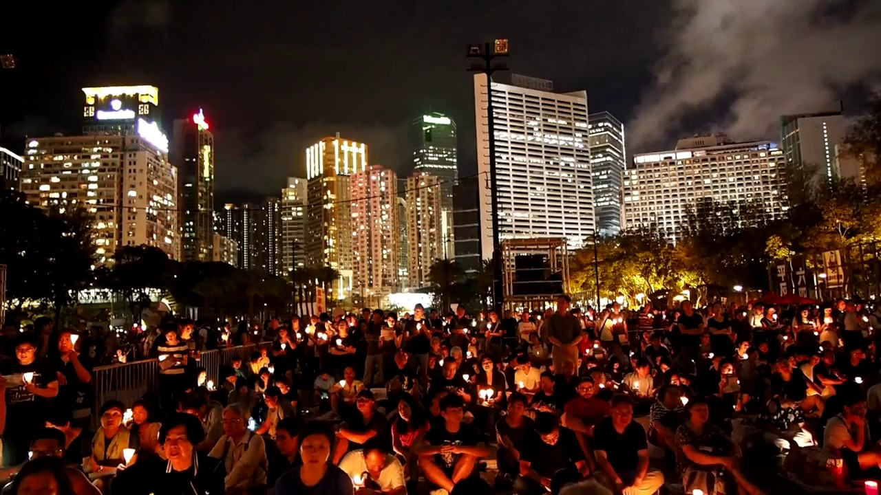 June 4th candlelight vigil for 1989 Tiananmen Square Massacre Victim 4th June 2018
