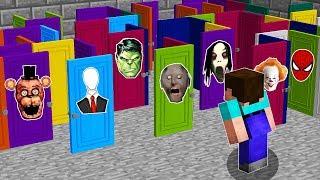 Какую СТРАШНУЮ Дверь из 1000 выберет Нуб в Майнкрафт Бабушка Гренни,Слендермен в Minecraft Мультик
