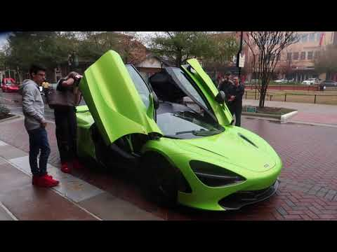 Say Hello to the First Lime Green Mclaren 720S in Houston!!! DRIVEN IN THE RAIN!!