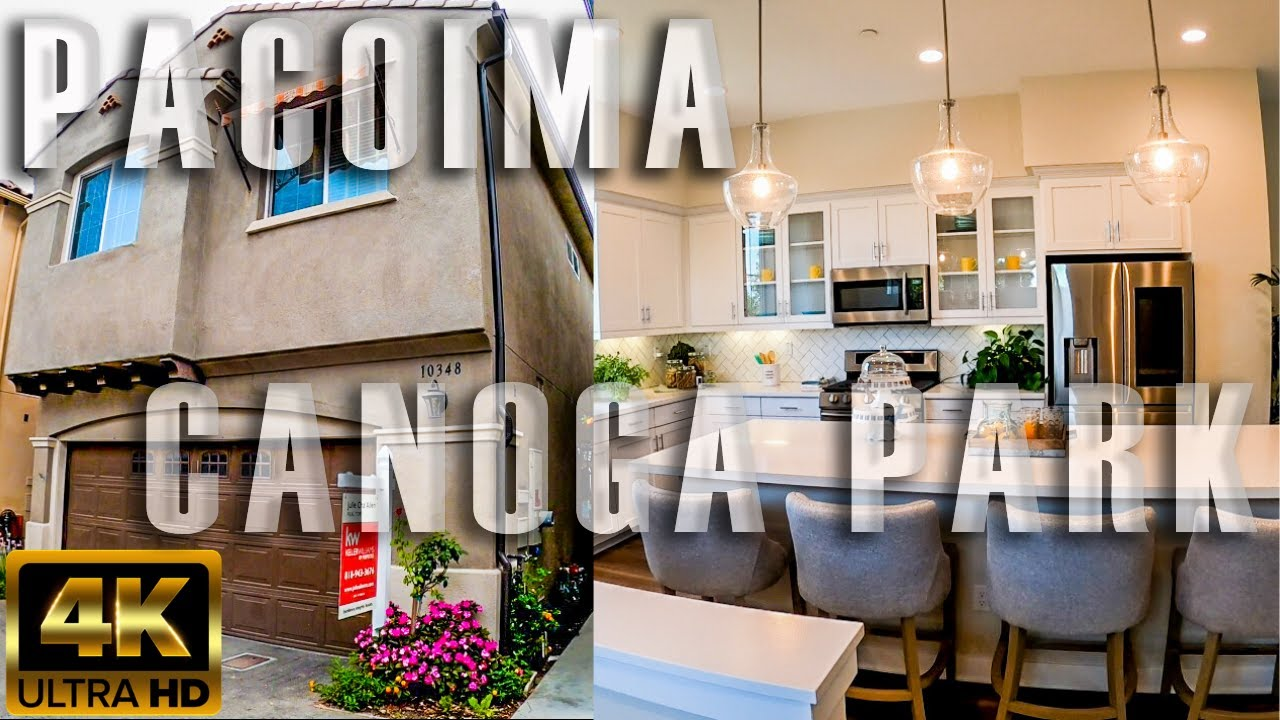 Pacoima Canoga Park California Virtual home Tours in 4k Video Homes for sale in Los Angeles County