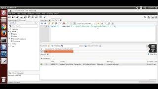 إنشاء كتابة, قراءة, حذف الملف من خادم MySQL(البرمجة C)
