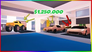 FERRARI, MUSTANG, AND MONSTER TRUCK! NEW JAILBREAK UPDATE! (Roblox)