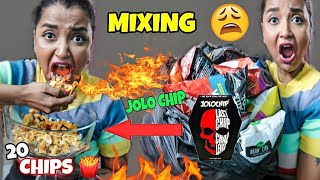 MIXING 20 CHIPS with World's HOTTEST JOLO CHIP & Eating It - মরেই গেলাম ! CHIPS CHALLENGE India