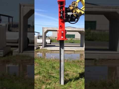 Eterra Excavator Post Driver Test   PD-550-EX