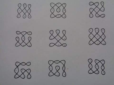 Basic Dot kolams for Beginners - Tutorial