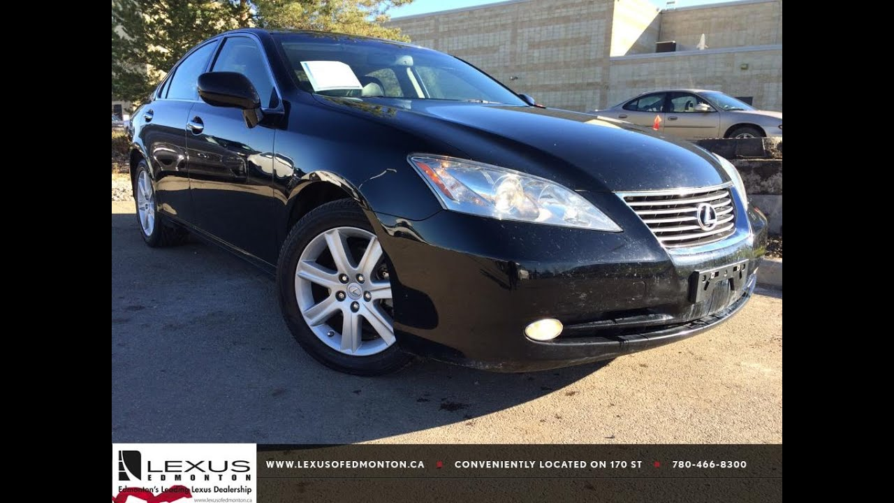 Pre Owned Black 2007 Lexus ES 350 In Depth Review | Bonnyville ...