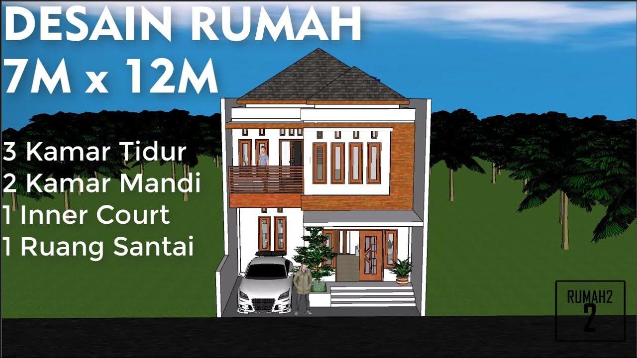 Desain Rumah Minimalis 7 X 12m 2 Lantai Youtube