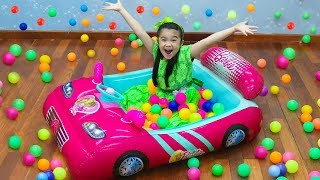 Hana Pretend Play w/ Barbie Car Inflatable Ballpit Ball Toys for Kids