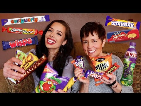 AMERICANS TRYING BRITISH CANDY AND SNACKS!