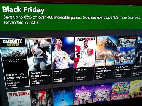 Xbox live Black Friday digital sales