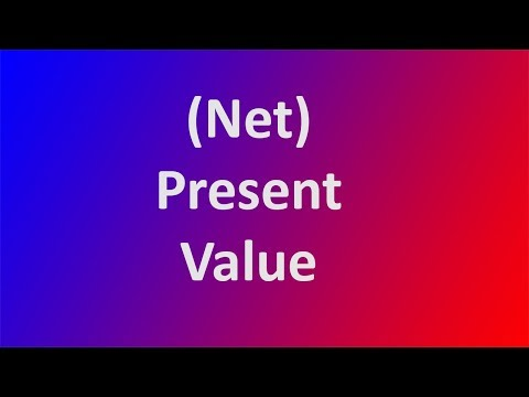 (Net) Present Value