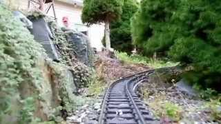 Ehgrr Bunny In The Tunnel Of Our Garden Railroad 09/06/14