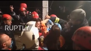 Romania  Firefighters rescue child stuck 16 metres down a well