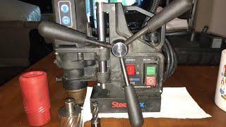 Mi primer taladro magnético para mi taller steel max