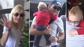 Chris Pratt And Anna Faris Catch A Flight At LAX With Adorable Son Jack